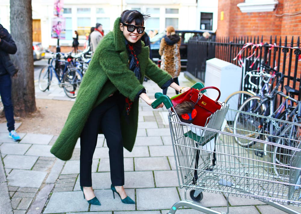 shopping cart fashion street style