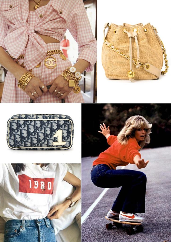 Vintage shopping designer items