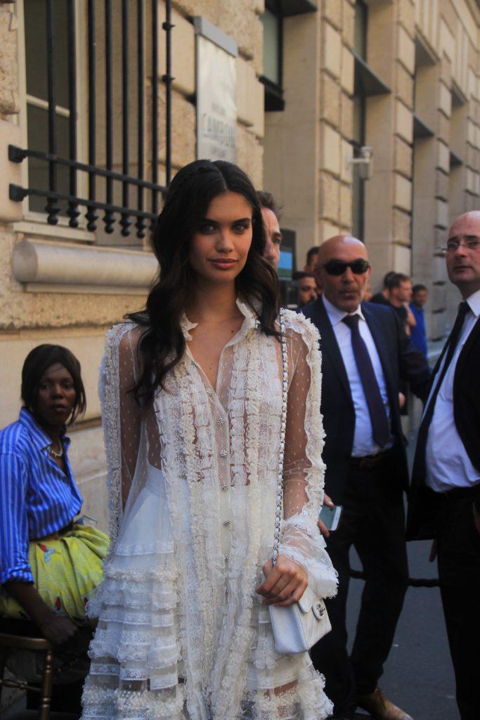 Sara Sampaio - Street Style at Paris Couture Week