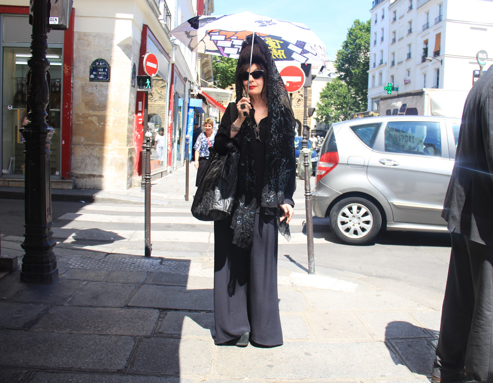 Couture Week Fall 2017: The Best Street Style Looks at Jean-Paul Gaultier: Diane Pernet