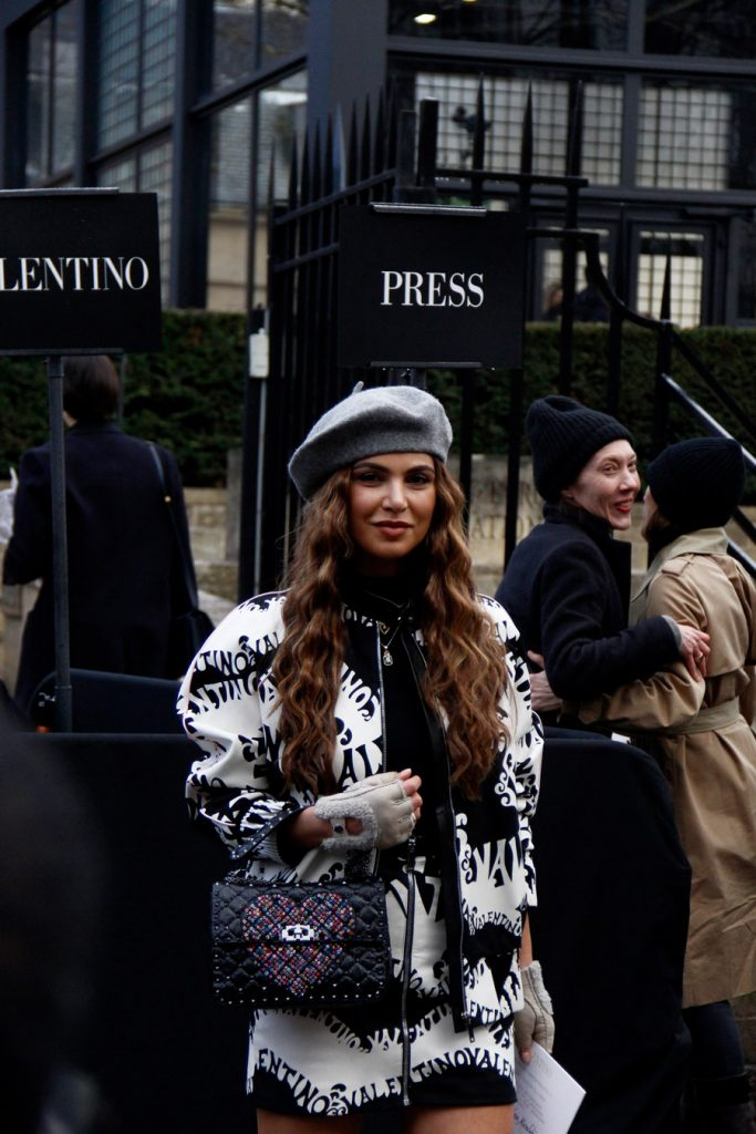 Negin Mirsalehi at Paris Fashion Week