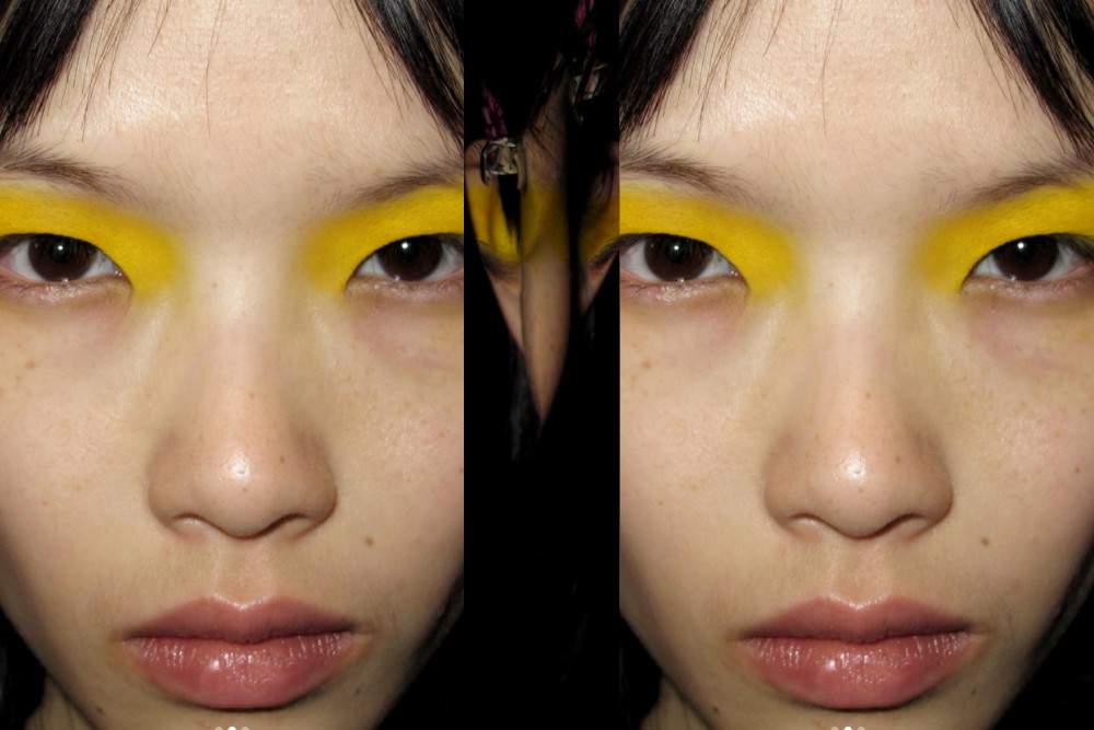 Barefaced With a Pop of Color: Meet the PFW Make-Up Look That Will Rule Your Summer