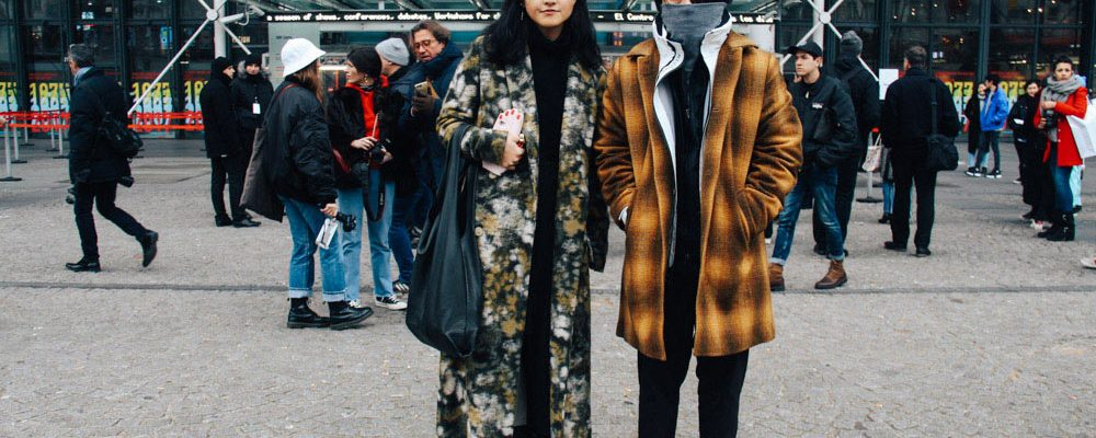 LOOK XX: Winterized couple goals at Centre Pompidou | Paris street style Fall Winter 2017