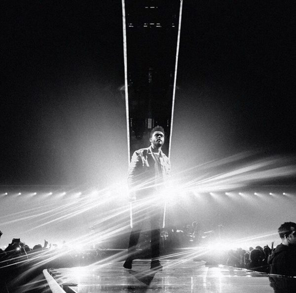 The Weeknd performing in Sportpaleis (Antwerp, Belgium)