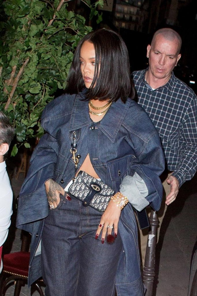 Rihanna Dior Oblique Canvas bag