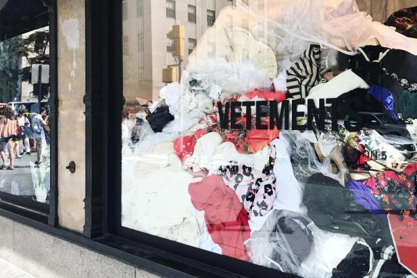 Vetements Makes a Strong Statement Against Excess at Saks Fifth Avenue