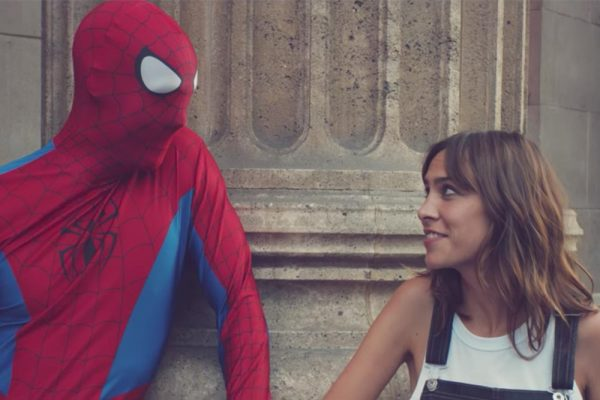 Alexa Chung Makes out with Spiderman in New AG Jeans Video