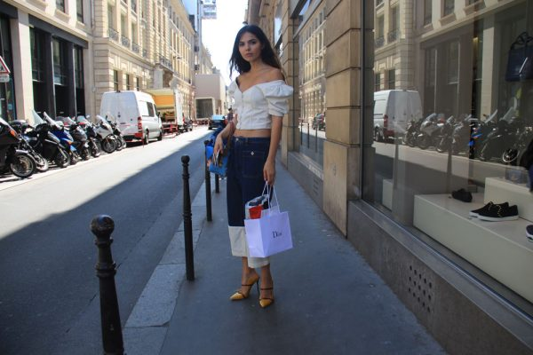 LOOK LIV: Doina Ciobanu wearing Off-Shoulder Top - Enfnts Terribles