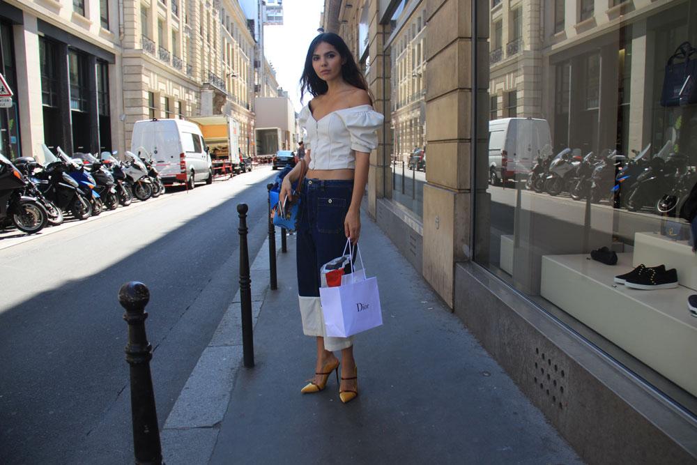 LOOKLIV: Doina Ciobanu wearing Off-Shoulder Top - Enfnts Terribles