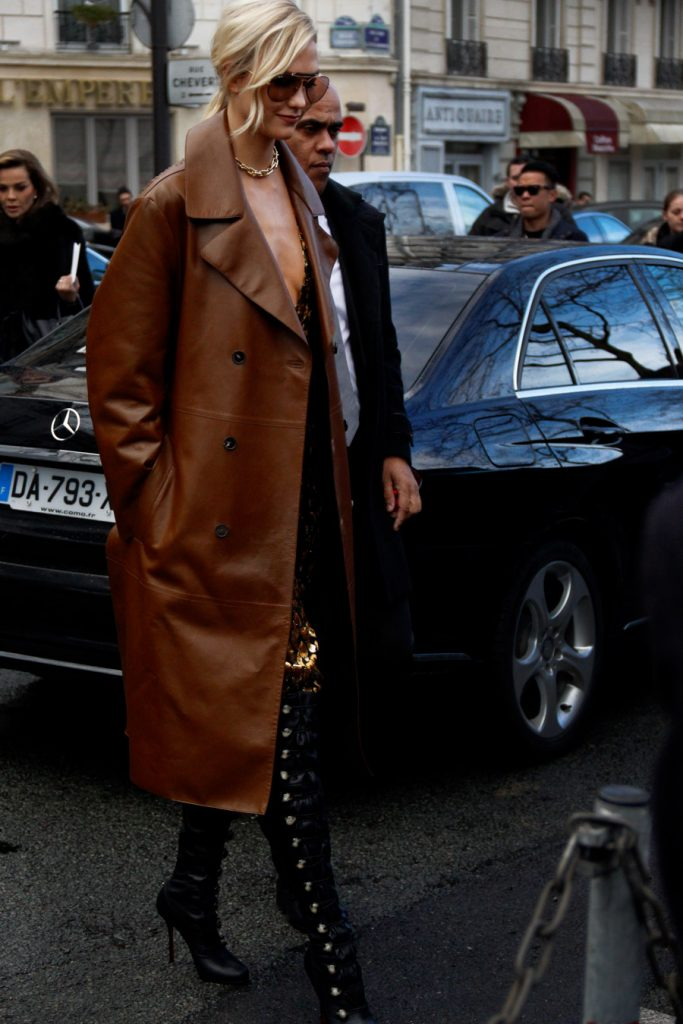 Karlie Kloss at Paris Fashion Week FW18