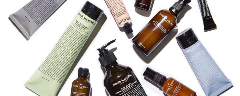 packaging of skincare brand Grown Alchemist