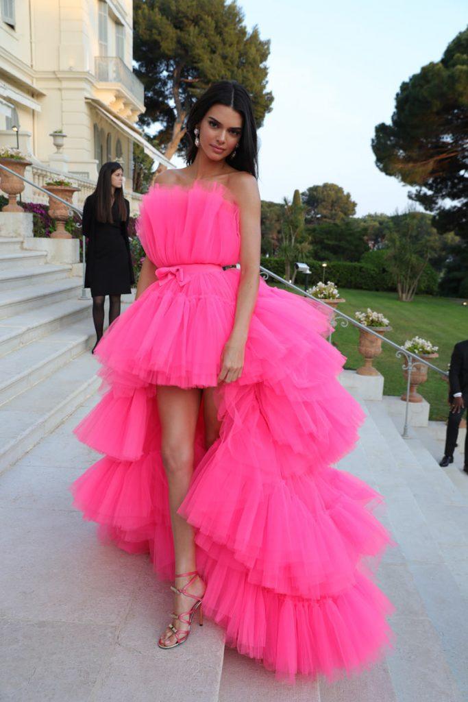 Kendall Jenner in H&M x Giambattista Valli at the AmFar gala in Cannes