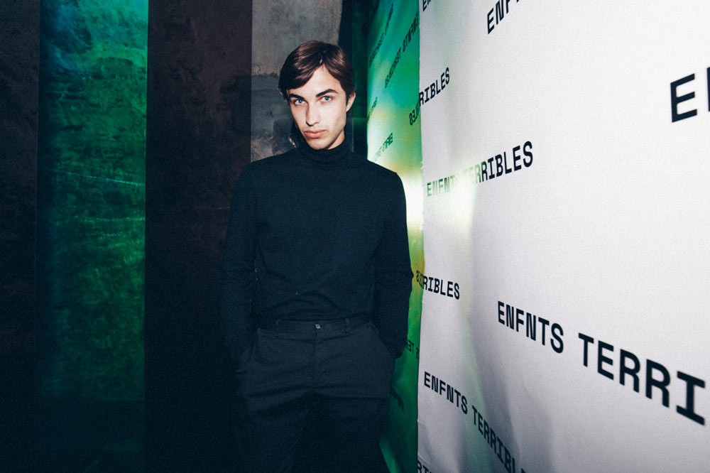 Model Quinten Kasch at the Enfnts Terribles party