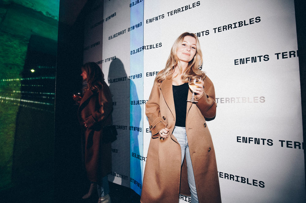 Elien Migalski at the Enfnts Terribles party