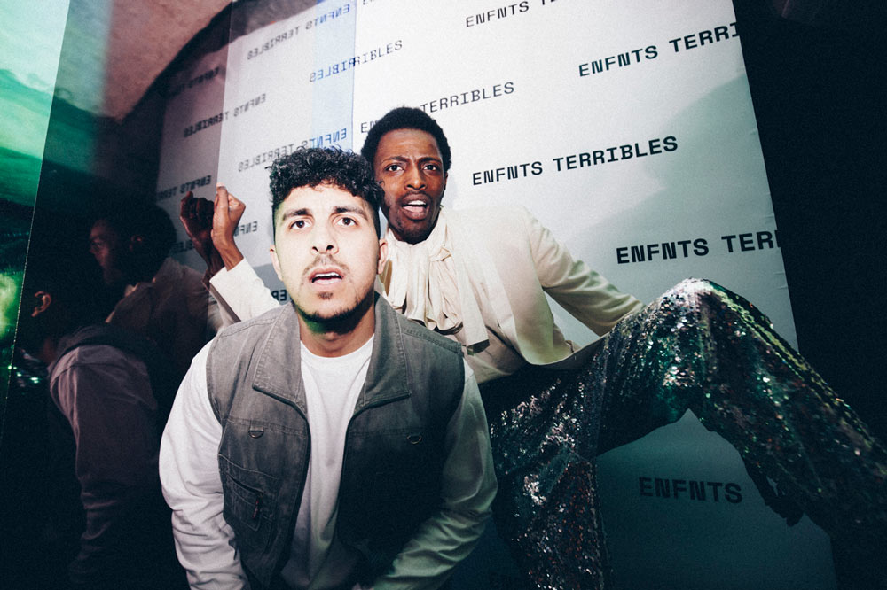 M'hamed Houmani and Jonathan Zegbe at the Enfnts Terribles party