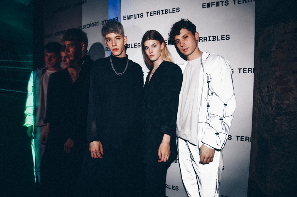 Promis3 and Emma Bale at the Enfnts Terribles party