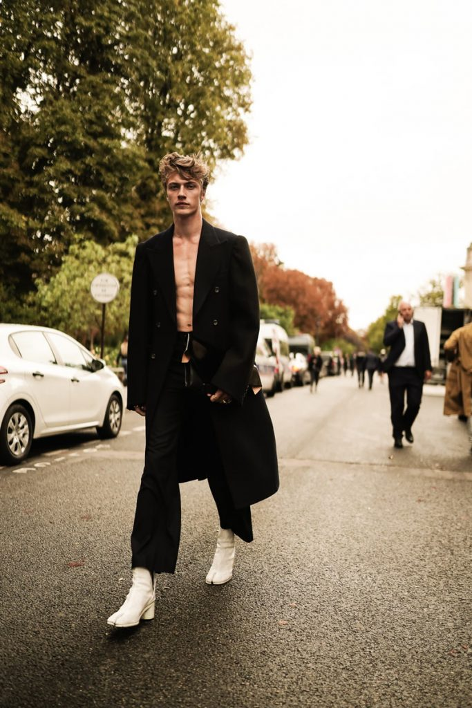 Lucky Blue Smith in Paris