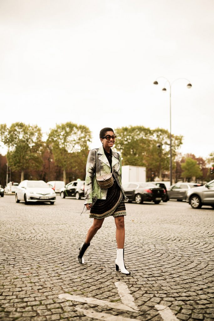Tamu McPherson   Street Style Looks from Paris Fashion Week SS20 Part 7 by Ludovic Pieterson