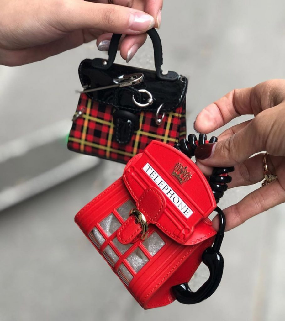 Delvaux mini bags telephone booth london