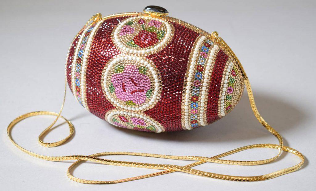 Fabergé Egg, evening bag by Judith Leiber.