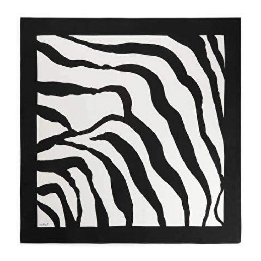 arket zebra silk scarf foulard