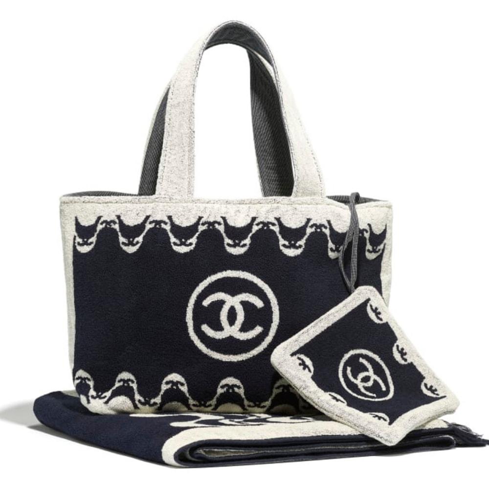 Chanel beach towel set