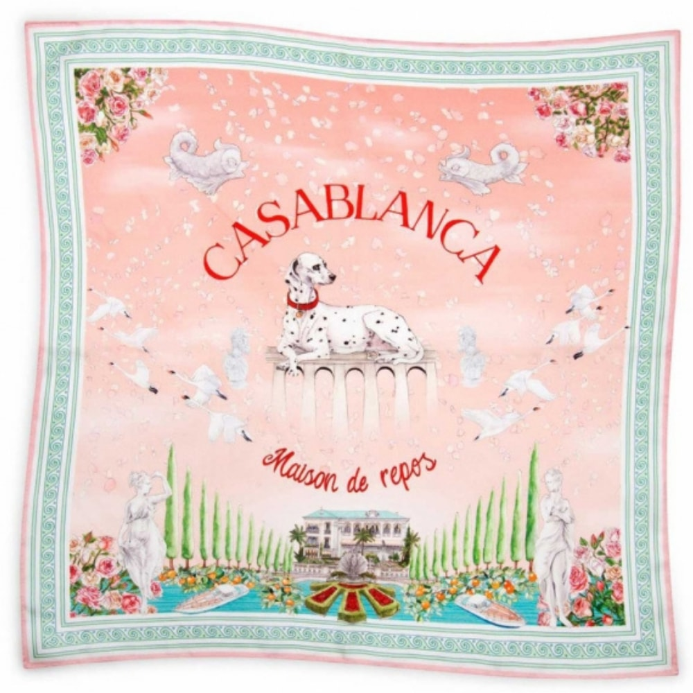 Casablanca maison de repos silk scarf