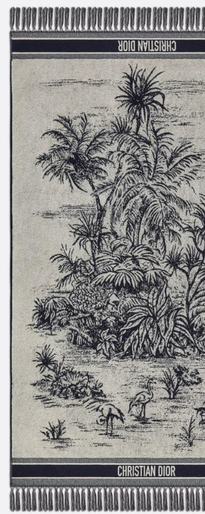 dior palm towel