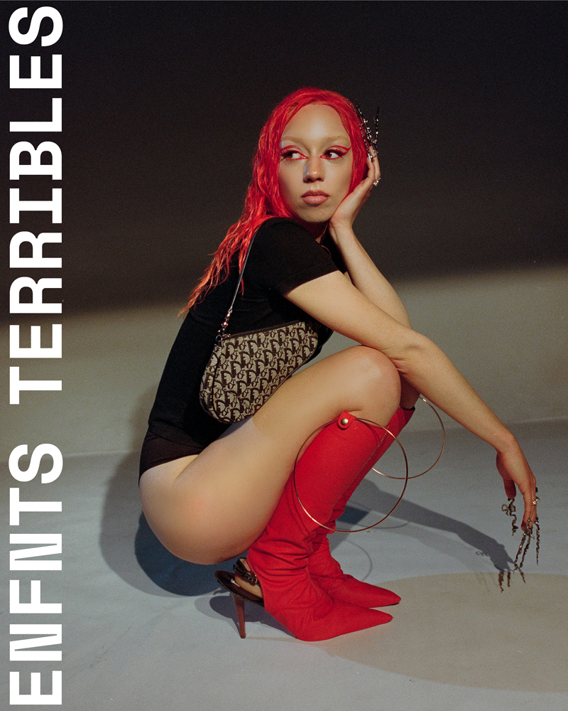 Cover shoot Flo Windey for ENFNTS TERRIBLES